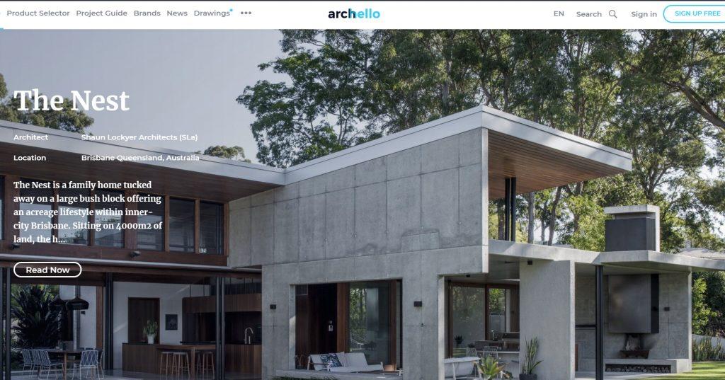 Archello: siti di architettura