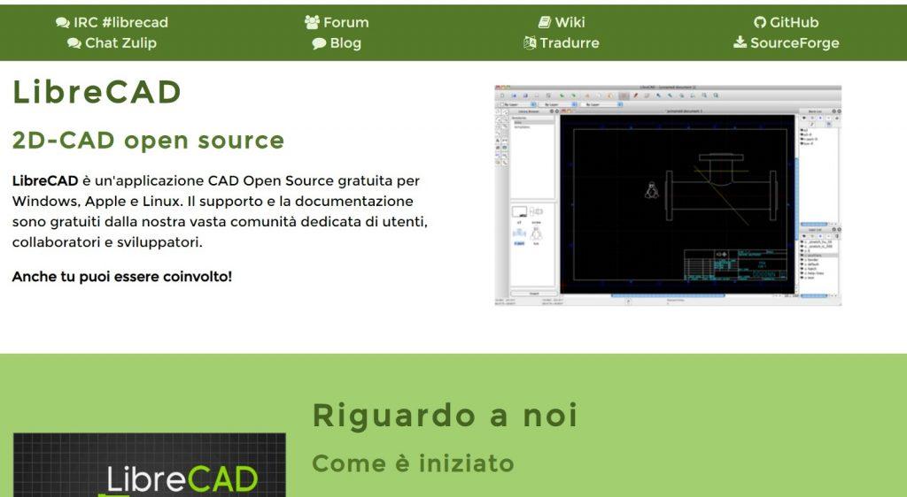 programmi per rendering di architettura gratis: LibreCAD